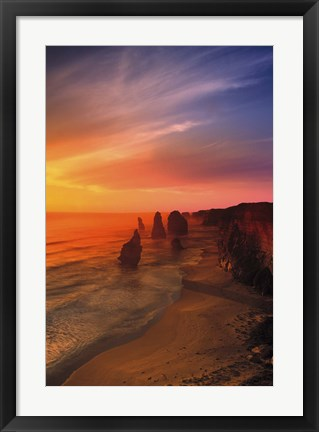 Framed Rocks on the Coast Print
