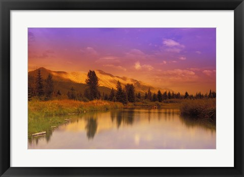 Framed Spring in the Mountains Print