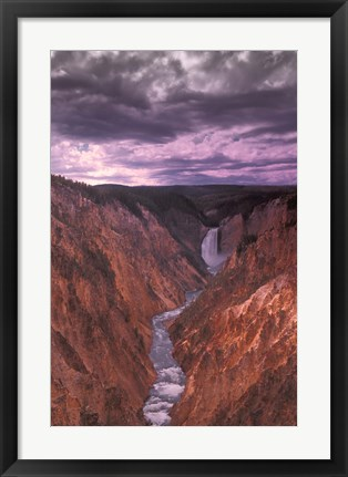 Framed River Through the Mountains Print