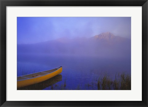 Framed Canoe in the Fog Print