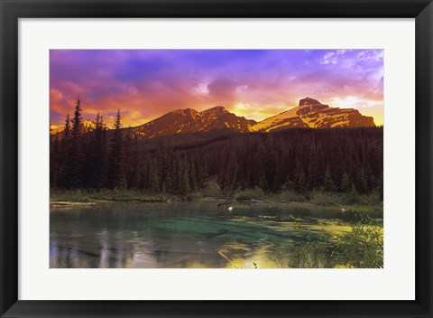 Framed Rainbow Colored Sky Print