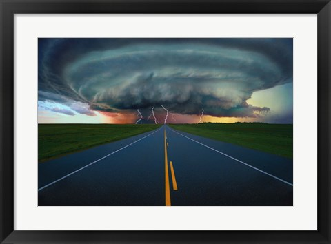 Framed Storm Rolling In Print