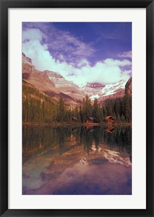 Framed Cabins on the Water Print