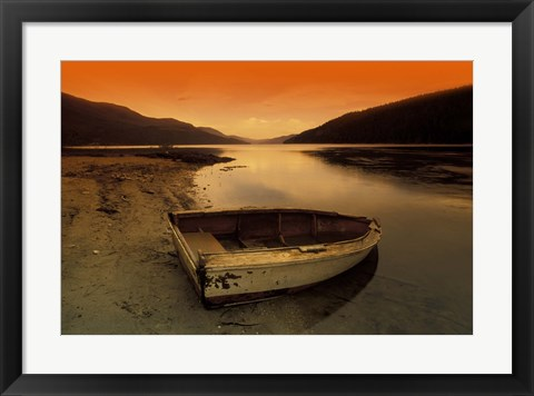 Framed Old Boat on the Shore Print