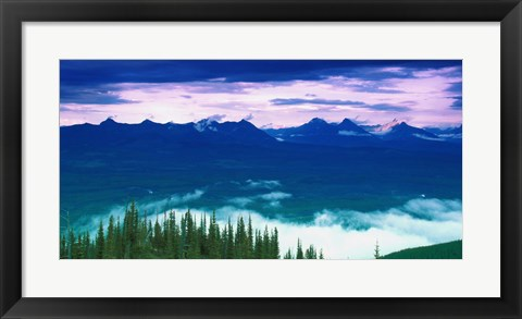 Framed Blue Mountains, Green Trees Print
