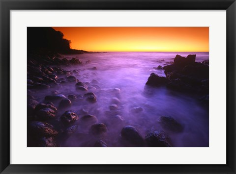 Framed Purple Fog Rolling In Print