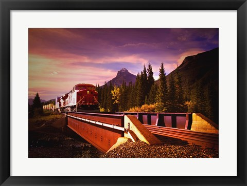 Framed Train on the Tracks Print