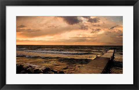Framed Walk on the Waves Print