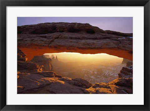 Framed View to the Desert Print