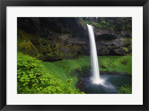 Framed Mossy Waterfall Print