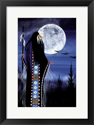 Framed Evening Star Woman Print
