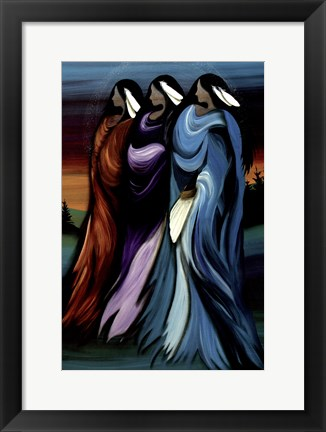 Framed Three Sisters Print