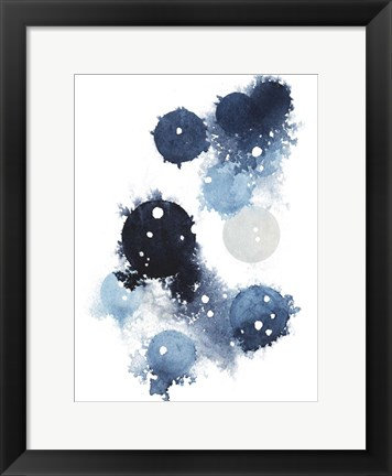 Framed Blue Galaxy I Print