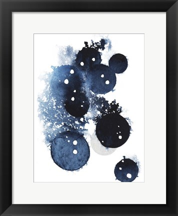 Framed Blue Galaxy II Print