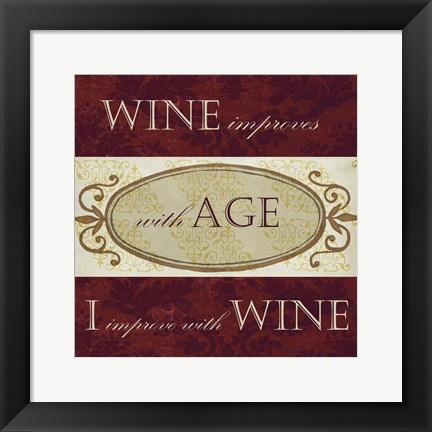 Framed Wine Phrases III Print