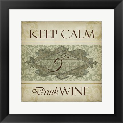 Framed Wine Phrases V Print