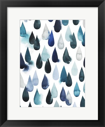 Framed Water Drops I Print