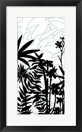 Framed Rainforest Ferns I Print