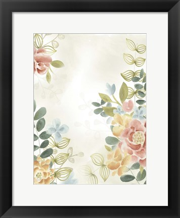 Framed Soft Flower Collection II Print