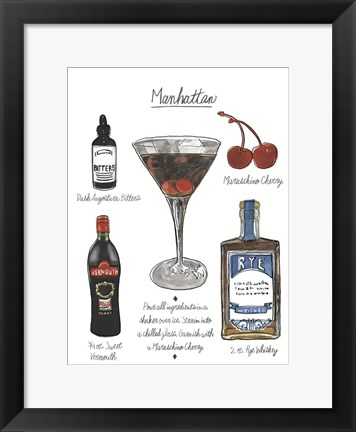 Framed Classic Cocktail - Manhattan Print