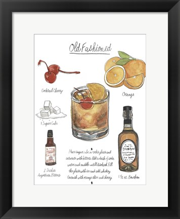 Framed Classic Cocktail - Old Fashioned Print
