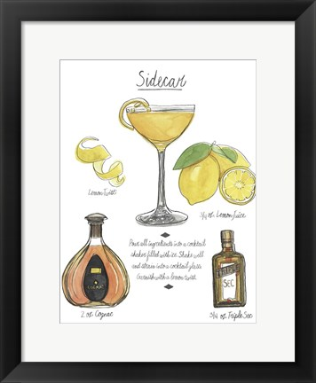 Framed Classic Cocktail - Sidecar Print
