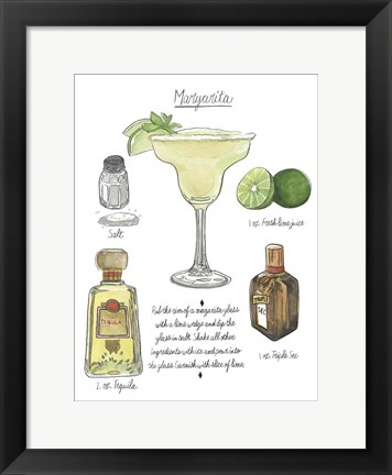 Framed Classic Cocktail - Margarita Print