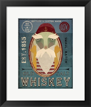Framed Fisherman VIII Old Salt Whiskey Print