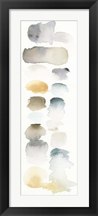 Framed Watercolor Swatch Panel Neutral I Print