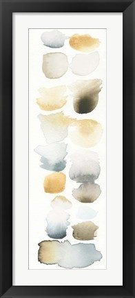 Framed Watercolor Swatch Panel Neutral II Print