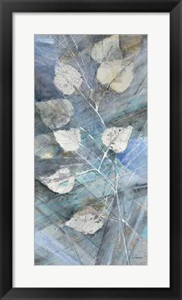 Framed Silver Leaves I Print