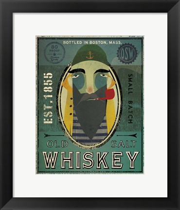 Framed Fisherman VII Old Salt Whiskey Print