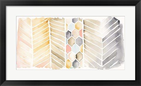 Framed Watercolor Chevron Print
