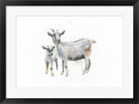 Framed Goat and Kid Print