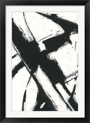 Framed Expression Abstract I White Print