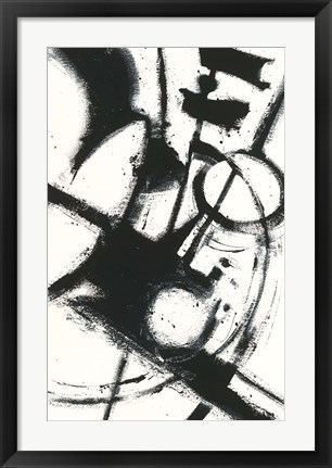 Framed Expression Abstract II White Print
