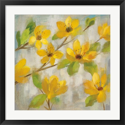 Framed Golden Bloom II Print