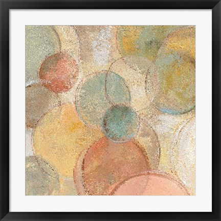 Framed Fresco Bubbles Print