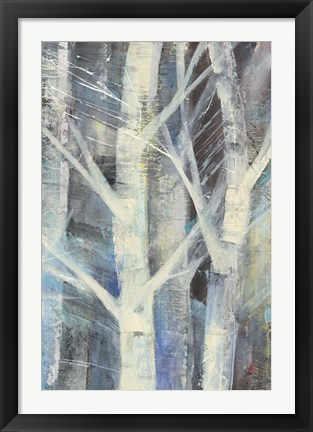 Framed Winter Birches II Print