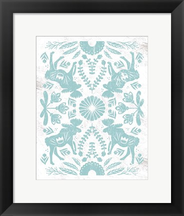 Framed Otomi Moose Print