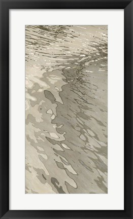 Framed Edge of the Beach Print