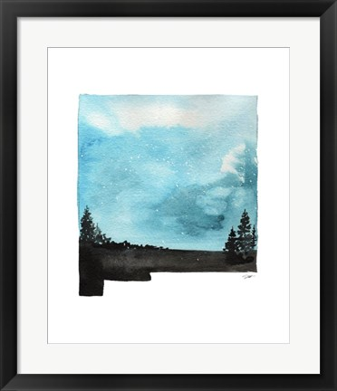 Framed New Mexico State Watercolor Print