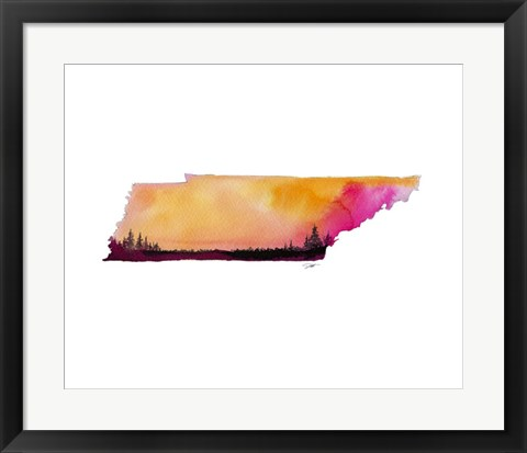 Framed Tennessee State Watercolor Print