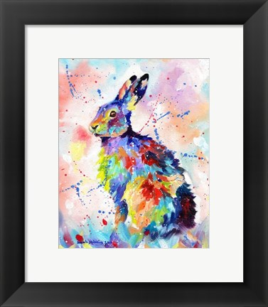 Framed Color Hare Print