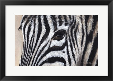 Framed Zebra Eyes Print