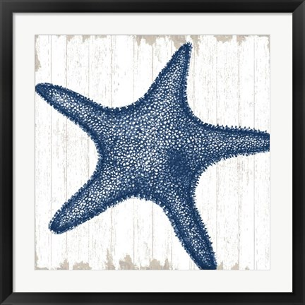 Framed Seaside Starfish Print