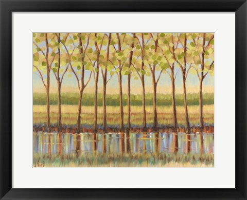 Framed Reflections Along the River Print