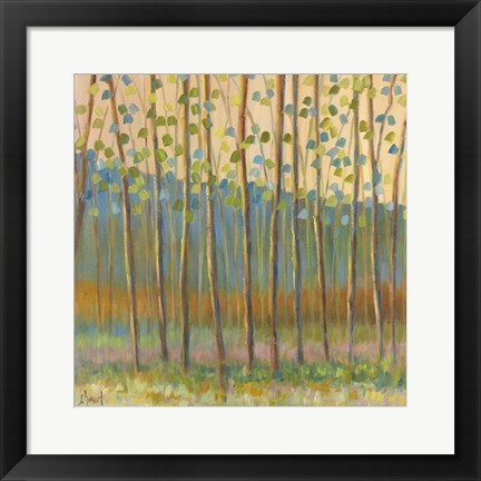 Framed Through Pastel Trees Print