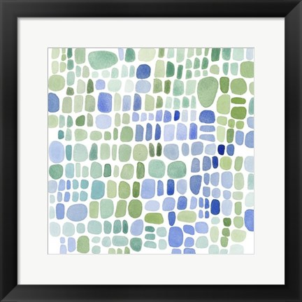 Framed Series Sea Glass No. II Print