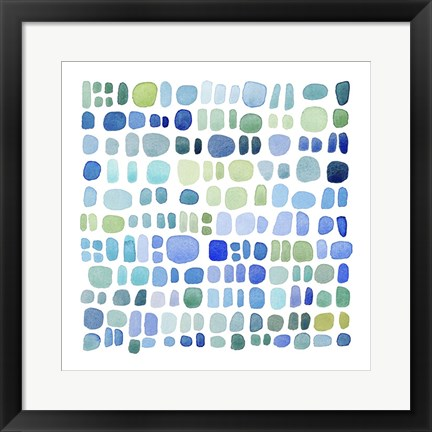 Framed Series Sea Glass No. III Print